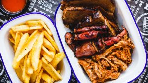 Smoke Haus Threesome - American BBQ Smokehouse restaurant