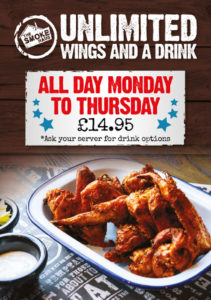 Smoke Haus Special Offers - Unlimited Wings Offer
