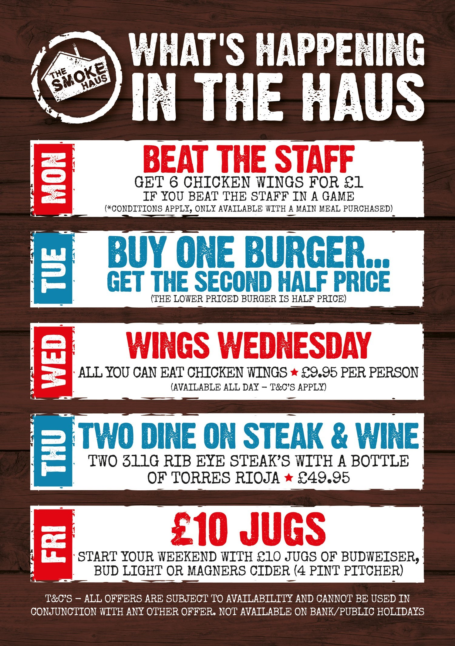 Smoke Haus Special Offers - July 2019